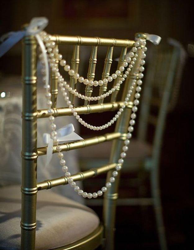 Chaise de mariage originale