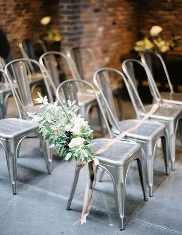 Chaise de mariage pour mariage industriel