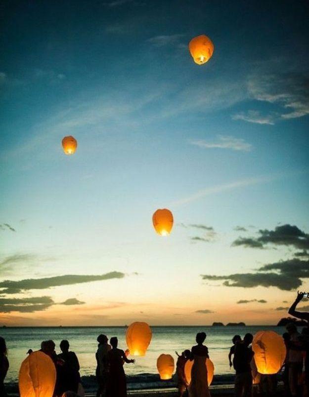 Lanterne volante mariage