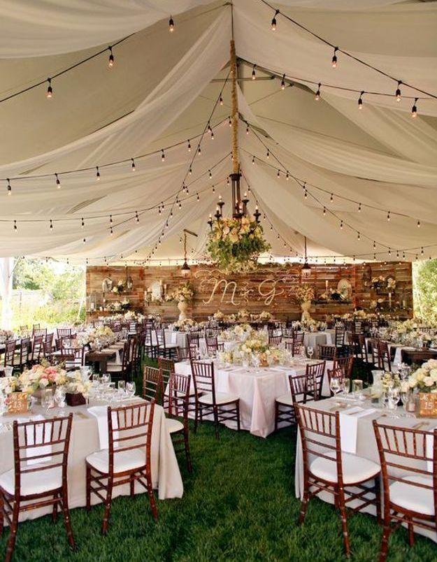 Mariage champêtre sous une tente