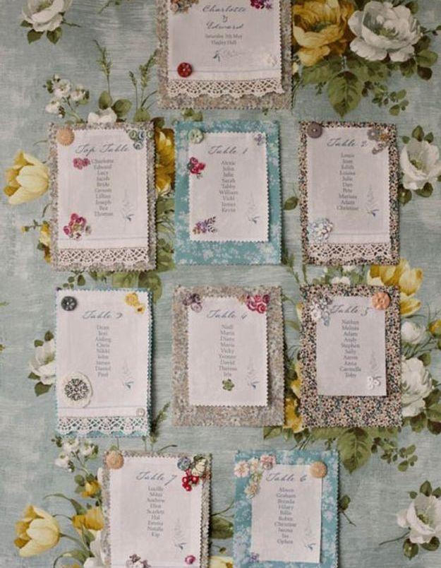 Plan de table vintage