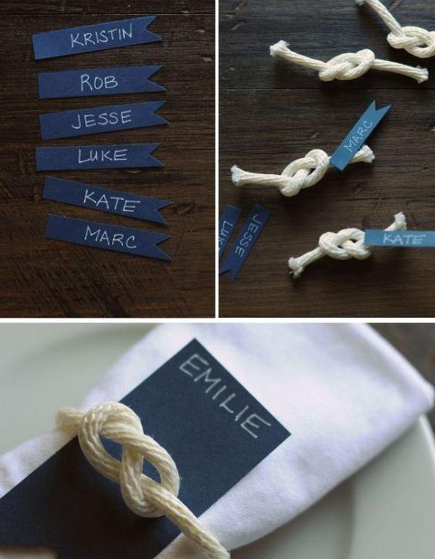 Rond de serviette nœud marin