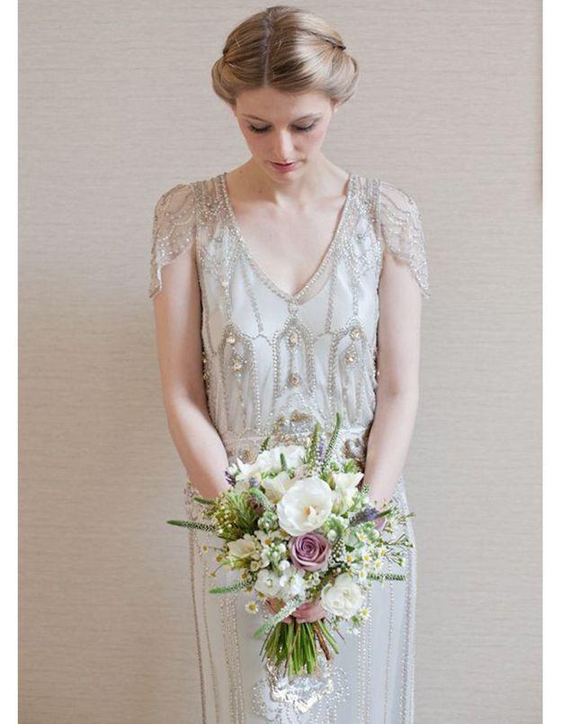 Robe de mariée rétro années 20
