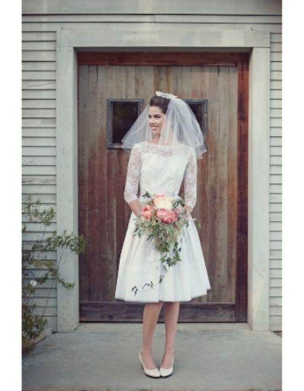 Robe de mariée vintage année 60