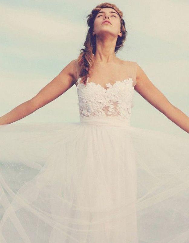 Robe de mariée vintage dentelle