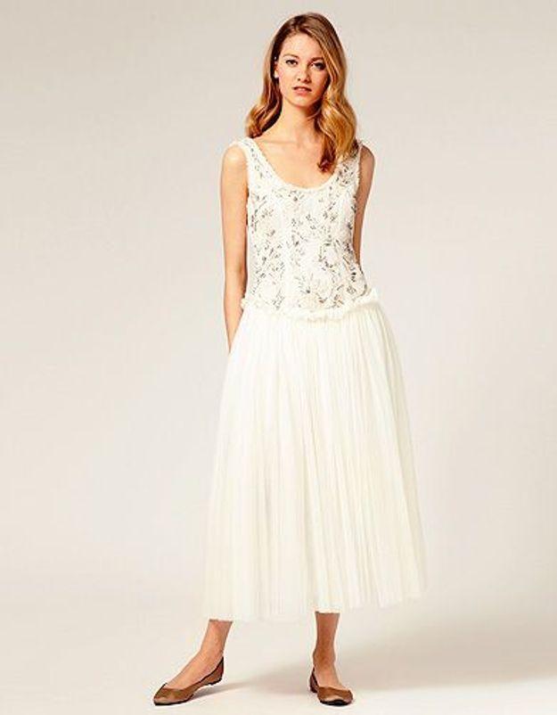 Robe blanche Asos