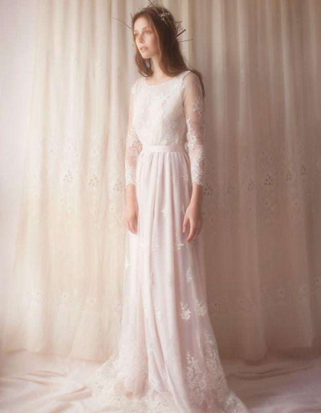 Robe de mariée en tulle Violette Tannenbaum