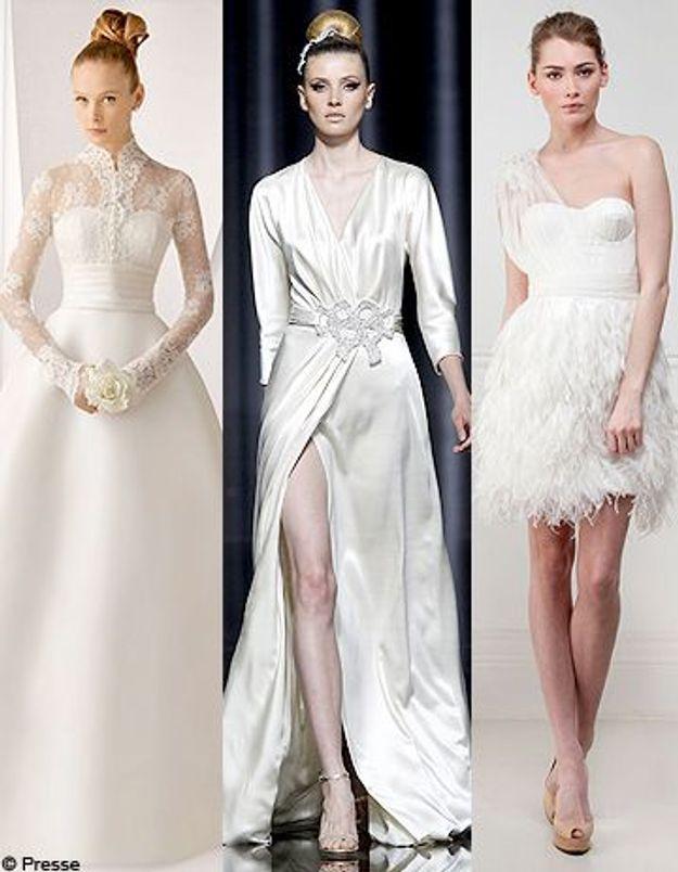 Coiffures pour une robe de mariГ©e et une silhouette
