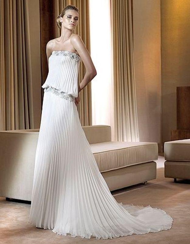 4a09c984d80 Mode tendance shopping mariage robe mariee Faisan Pronovias - Robe de  mariage - Elle
