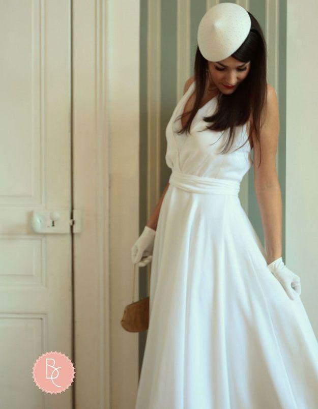 Créateur robe de mariée rétro Bérengère Cardera