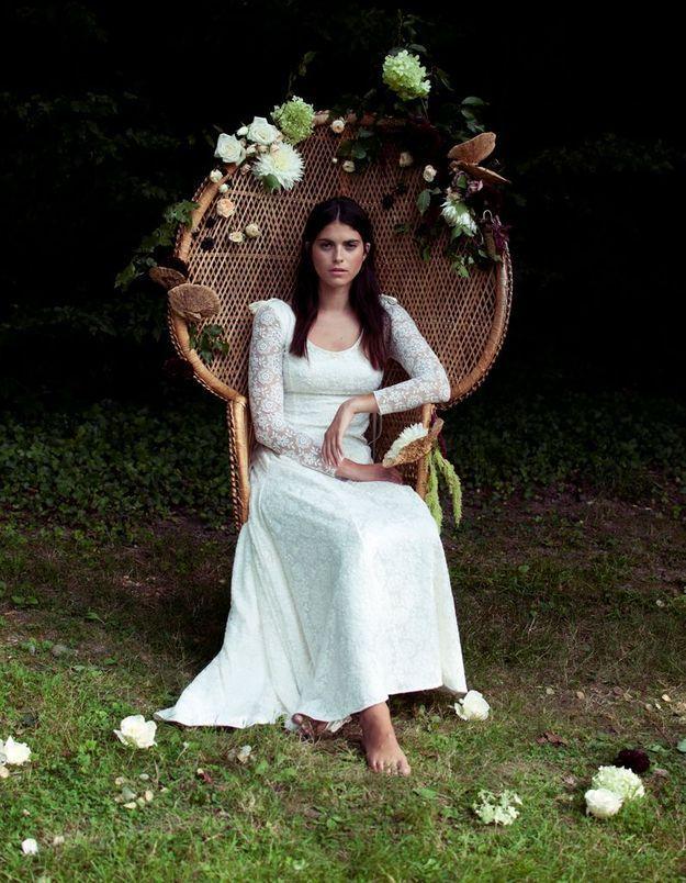 Créatrice robe de mariée hippie chic Élise Hameau