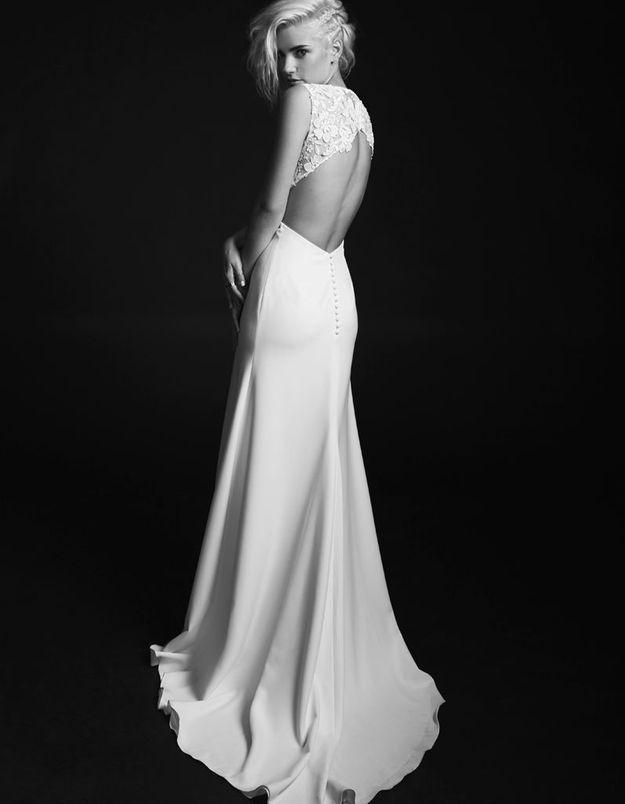 Robe de mariée créateur dos nu Rime Arodaky