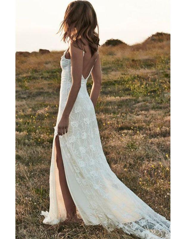 Robe de mariée dentelle blanche