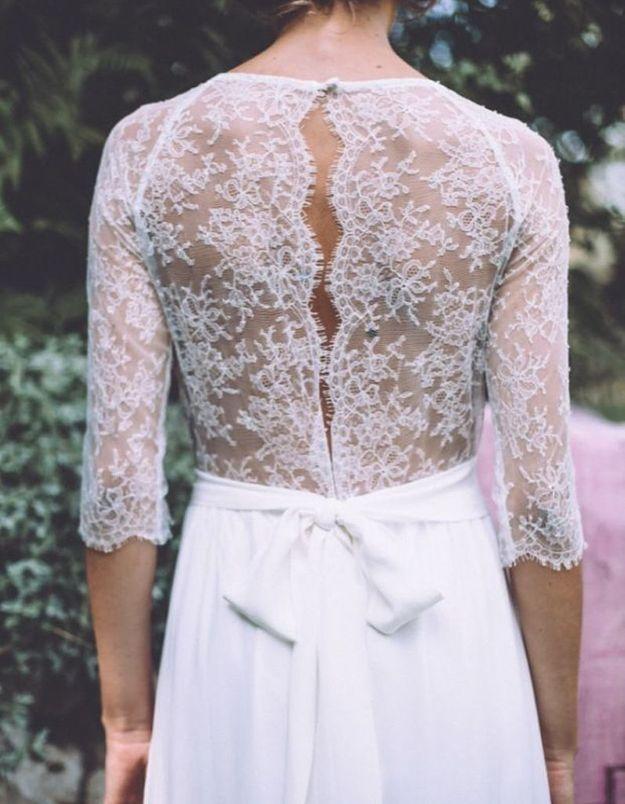 Robe de mariée dentelle de Calais Lorafolk