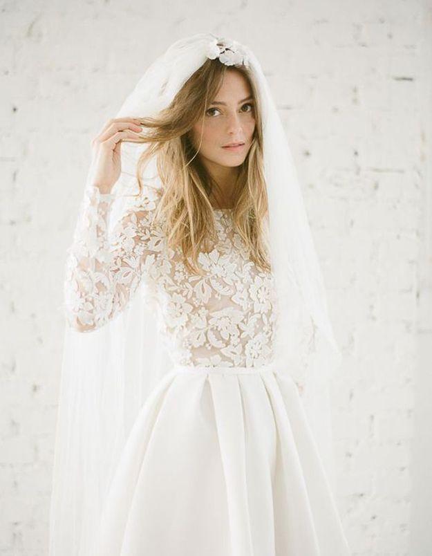 Robe de mariee dentelle romantique Rime Arodaky
