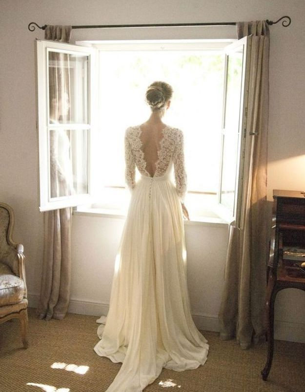 Robe de mariée princesse fluide