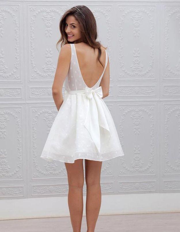 Robe de mariée de princesse à noeud