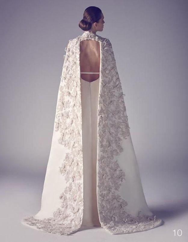 Robe de mariée de princesse avec cape
