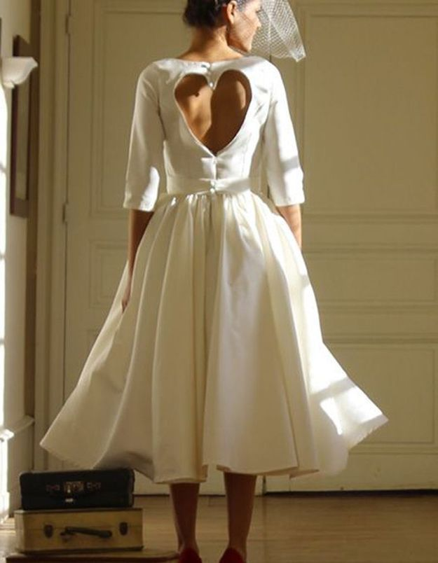 Robe de mariée de princesse coeur