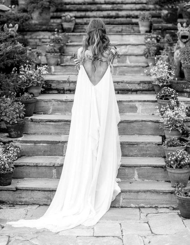 Robe de mariée de princesse d'été