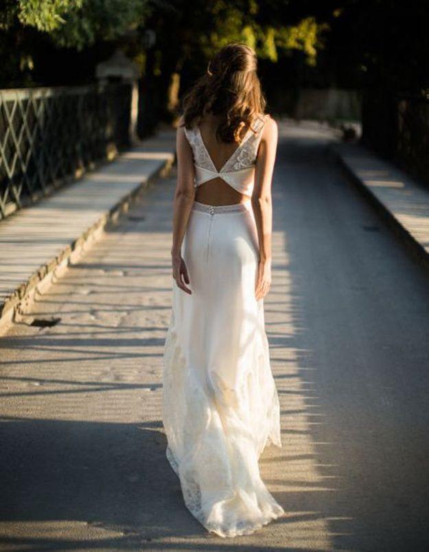 Robe de mariée de princesse dos ajouré