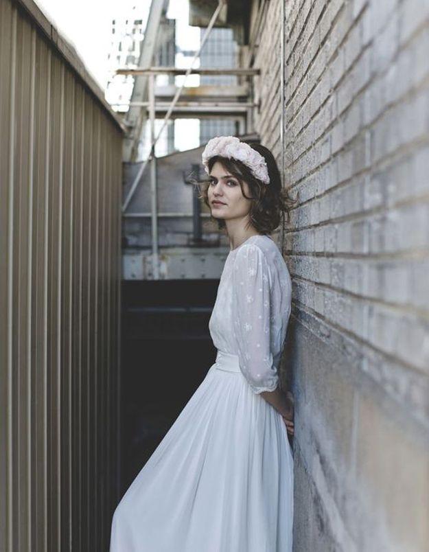 Robe de mariée de princesse simple