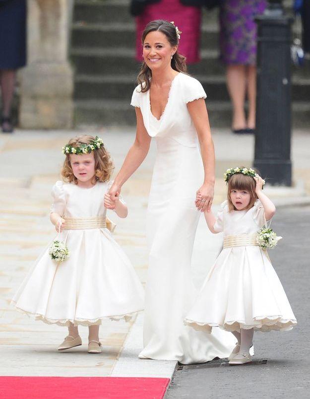 La robe de demoiselle d'honneur de Pippa Middleton au mariage de Kate et William