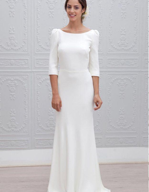 Robe de mariée d'hiver classique