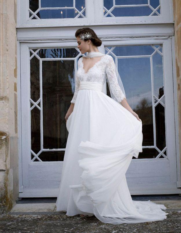 Robe de mariée d'hiver Cymbeline