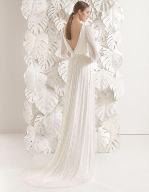 Robe de mariée d'hiver dos nu