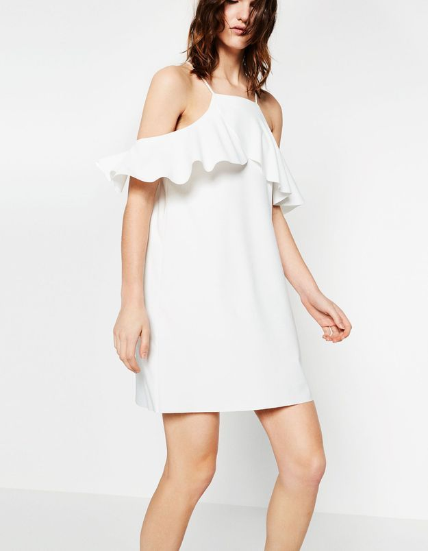 Robe de mariée courte à volants Zara