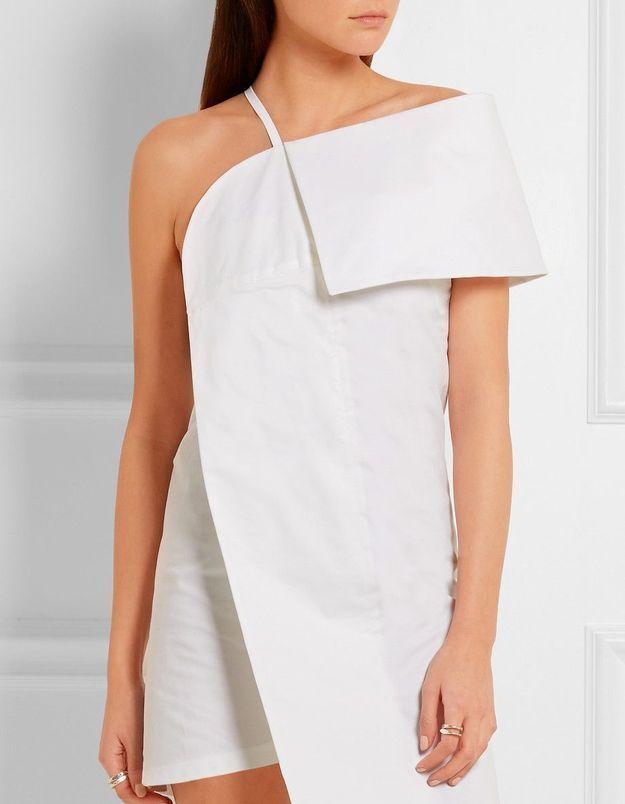 Robe de mariée courte asymétrique Jacquemus
