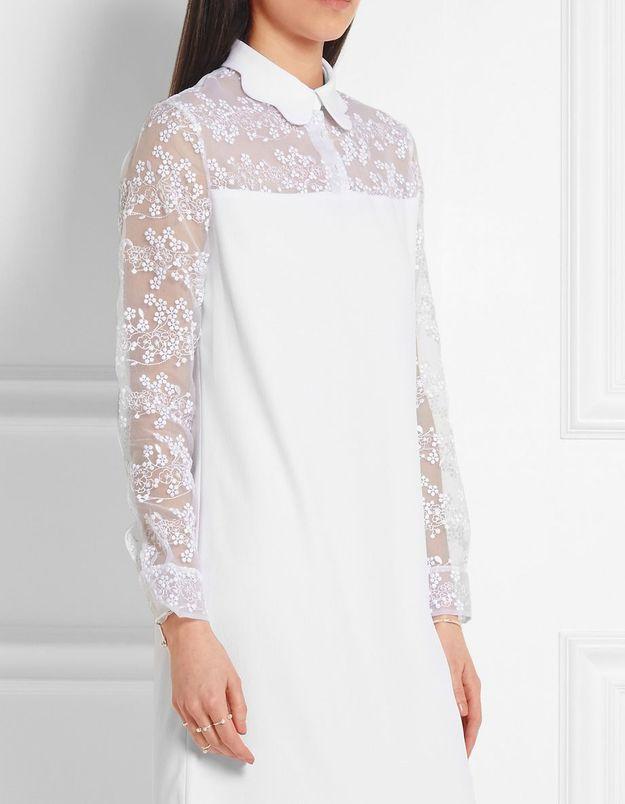 Robe de mariée courte blanche Carven