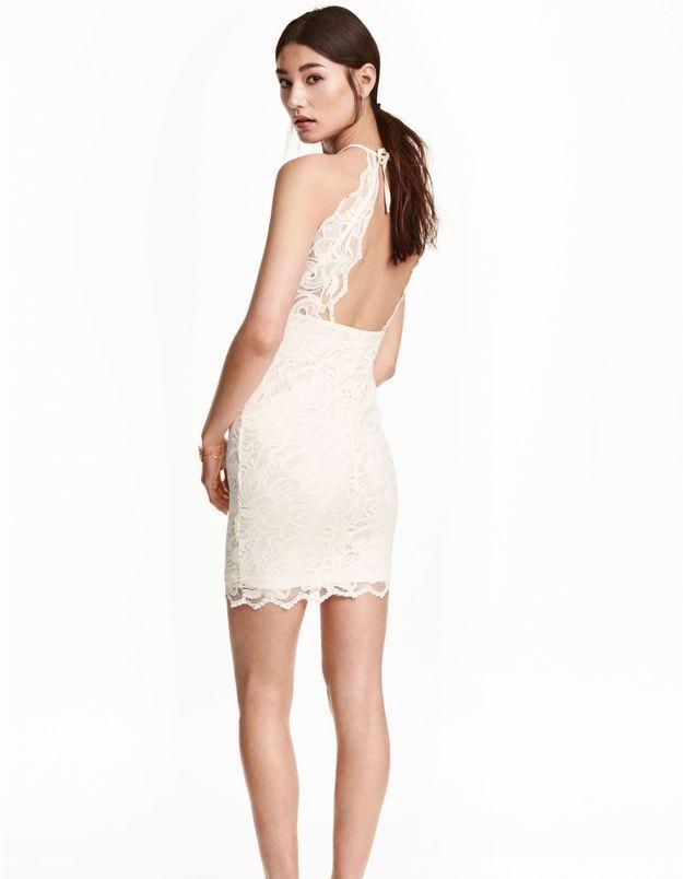 Robe de mariée courte dos nu H&M