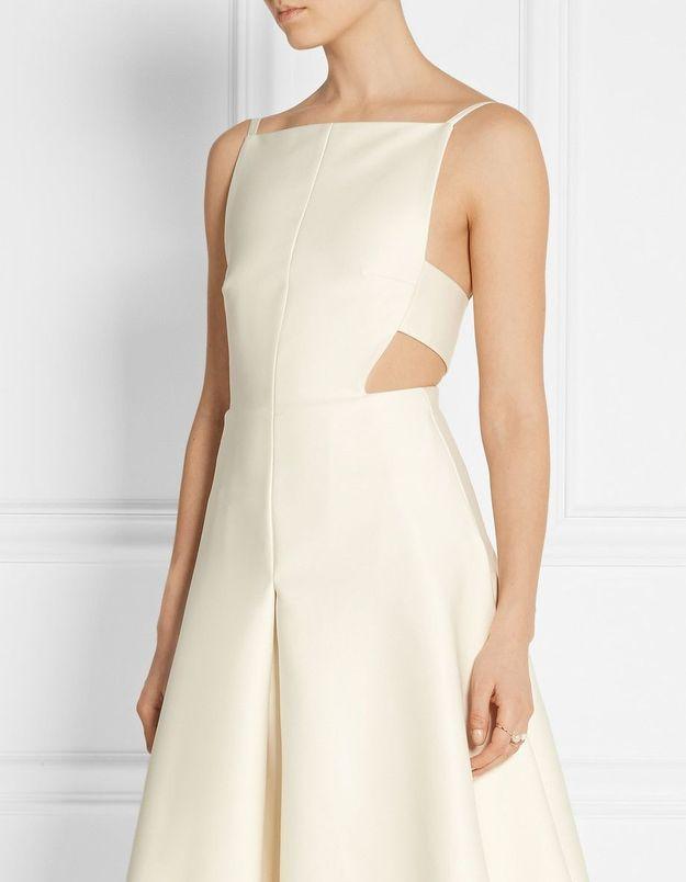 Robe de mariée courte écrue Solace London