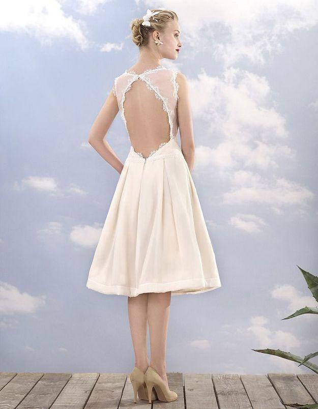 Robe de mariée courte élégante Atelier Manon Pascual