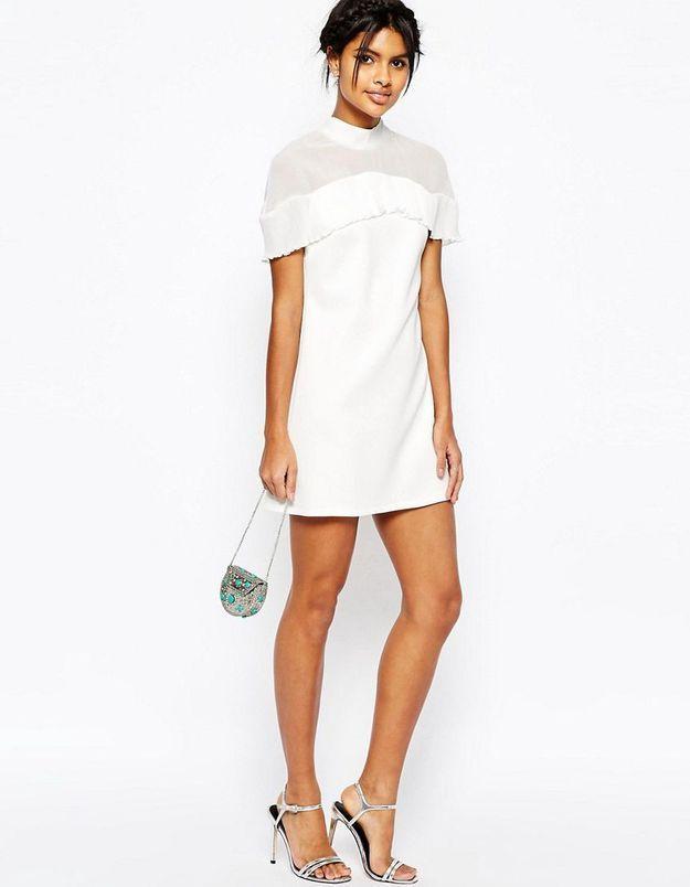 Robe de mariée courte minimaliste Asos