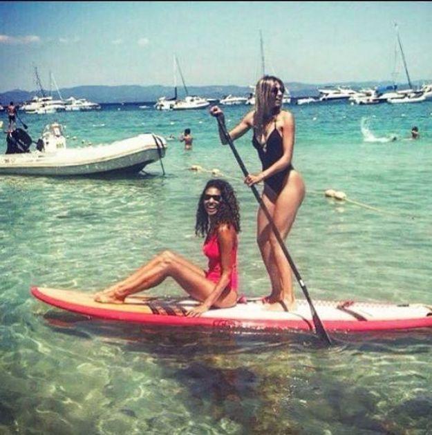 Chloé Mortaud et Alexandra Rosenfeld en stand-up paddle