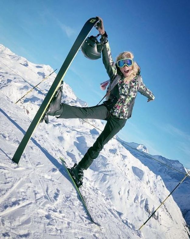 Elodie Gossuin au ski
