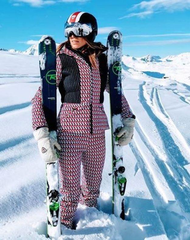 Laury Thilleman au ski