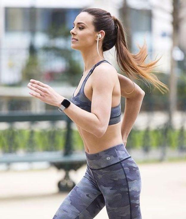 Marine Lorphelin en séance jogging