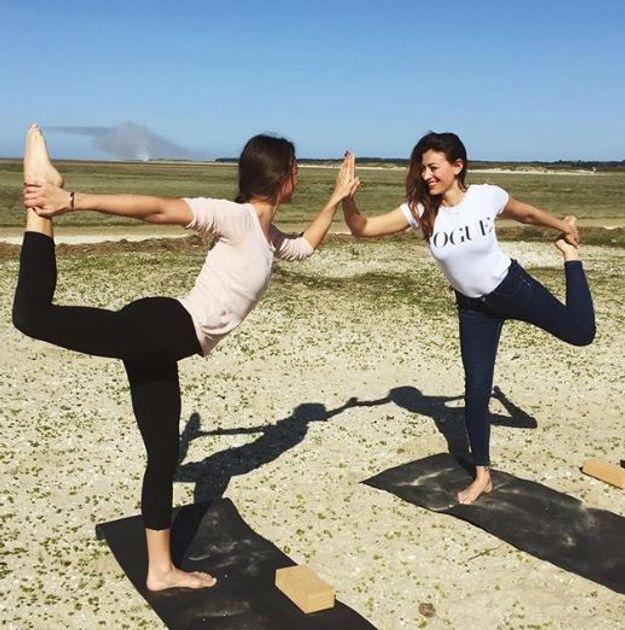 Rachel Legrain Trapani au yoga