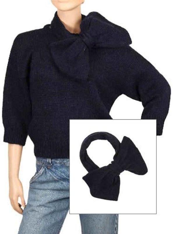 Accessoires en mailles echarpe noeud madame a paris le bazar parisien