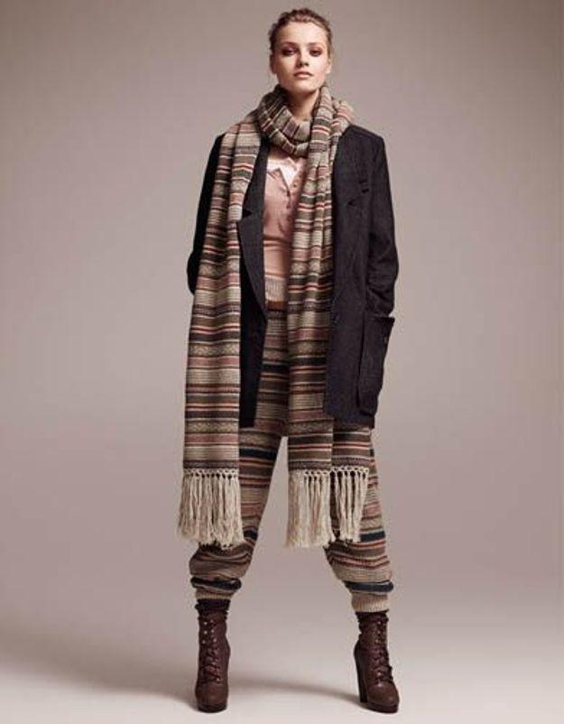 Accessoires en mailles legging echarpe