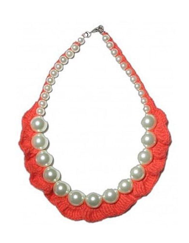 Accessoires en mailles Octopus Garden Pearl Crochet Necklace daydream Nation