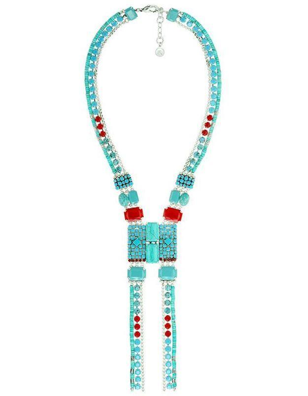 Bijoux ethniques bleus et rouges Reminiscence Paris