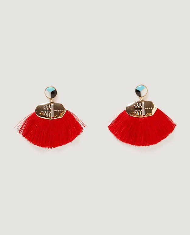 Boucles d'oreilles pompon Zara