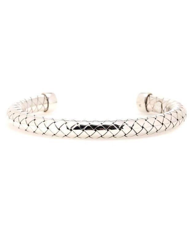 Bracelet jonc argent Bottega Venetta