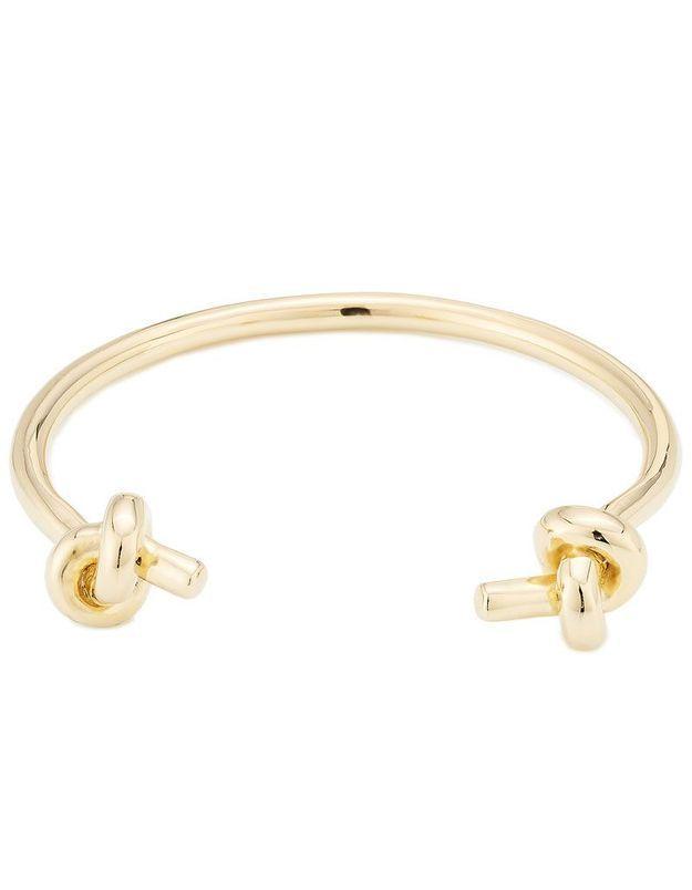 Bracelet jonc en plaqué or Jennifer Fisher