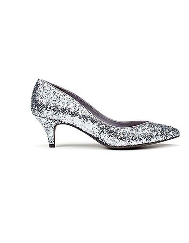 Escarpins glitter argent Zara